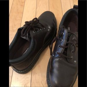 Skechers leather work boots NWOT